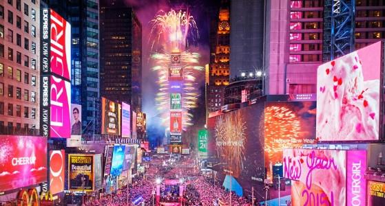 الاحتفال برأس السنة في نيويورك