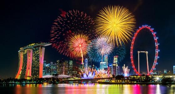 الاحتفال برأس السنة في سنغافورة