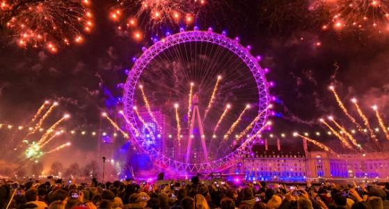 الاحتفال برأس السنة في لندن