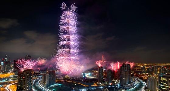الاحتفال برأس السنة في دبي